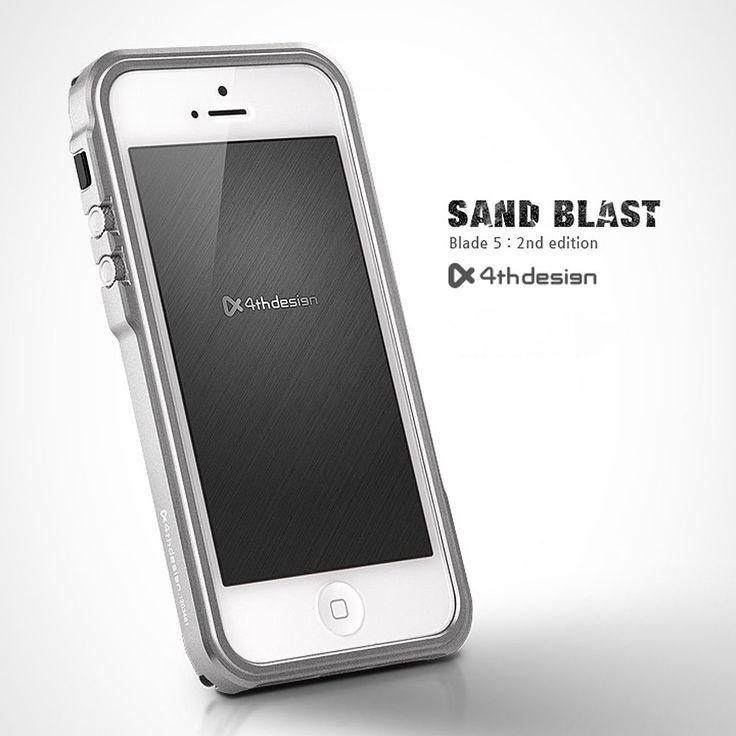 4THDESIGN Blade 5 Sandblast Aluminium Metal Case Cover for iPhone 5 5S Silver   eBay