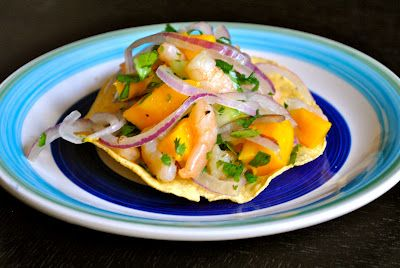 Mexican Mango and Shrimp Ceviche With Cucumber and Jalapeno (Recipe in Spanish with translator available)