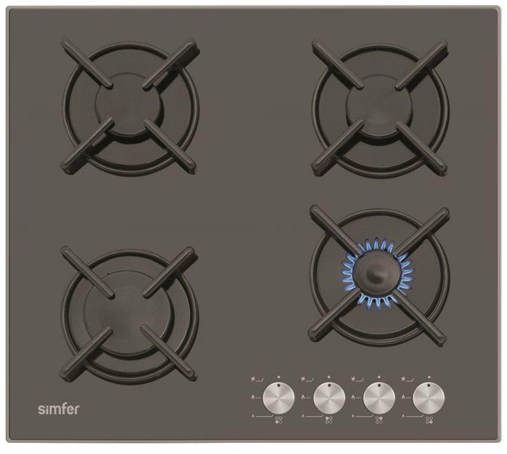 Simfer 3031 Siyah Cam Set Üstü Emaye Izgara ::