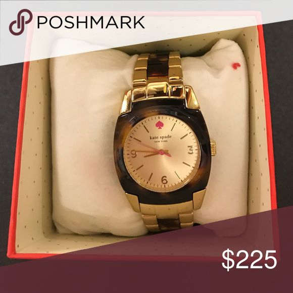 Kate spade tortoise watch Very gently used! Box and pillow included! kate spade Accessories Watches