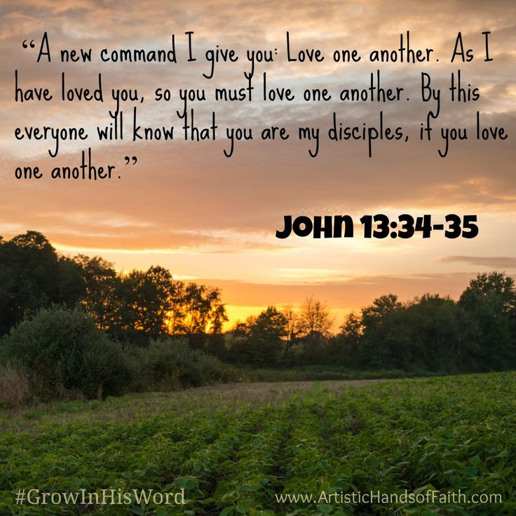 GROW in His Word Scripture Study - John 13:34-35