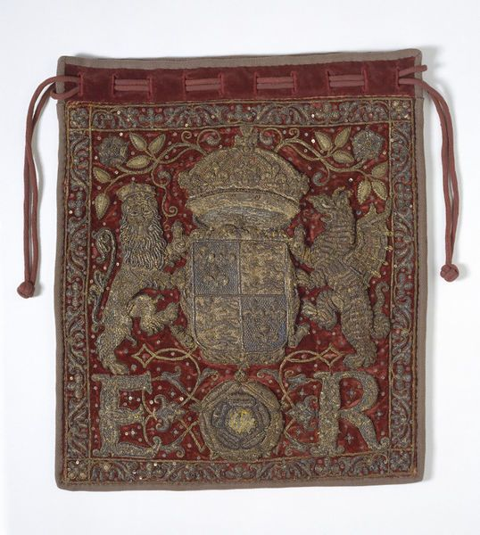 Burse Place of origin: England, Great Britain (made) Date: 1558-1603 (made) Materials and Techniques: Velvet and satin with linen canvas embroidered with metal thread, silk thread, spangles and beads Museum number: T.40-1986