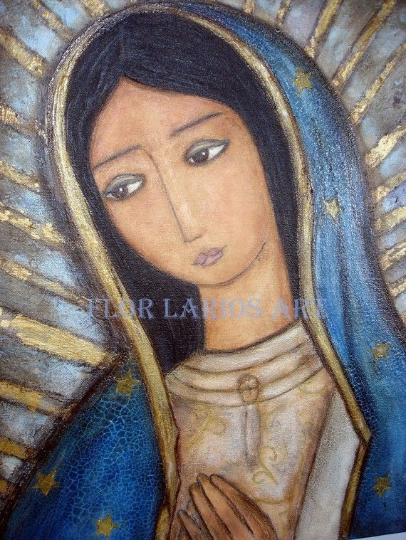 La Virgen Morena Guadalupe    Print from  Painting by FlorLarios, $15.00
