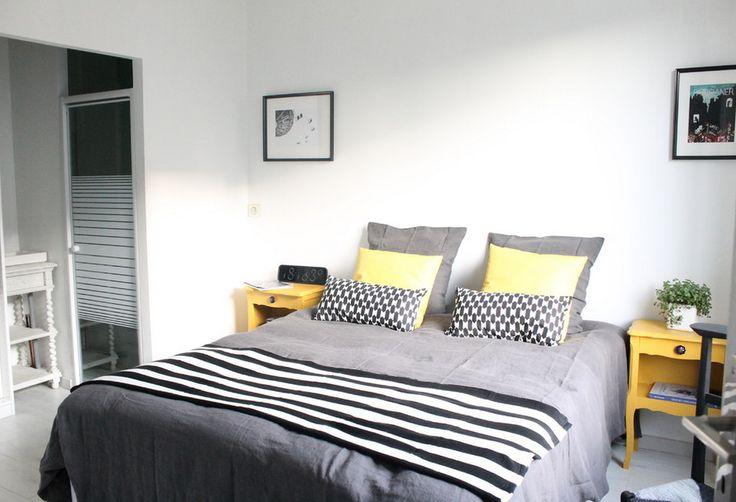 La chambre grise et jaune parfaite room chambre for Chambre grise et jaune