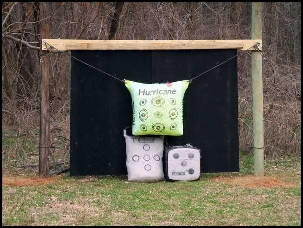 Small Backyard Archery Range : Stall Mat Backstop Shooting Range Ideas, Archery Stuff, Archery Range