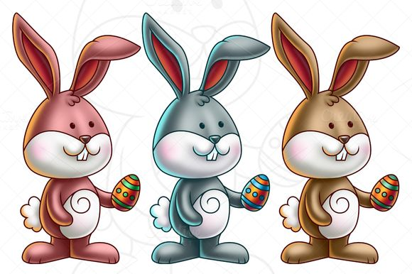 Easter Cartoon Clipart & Vectors Images