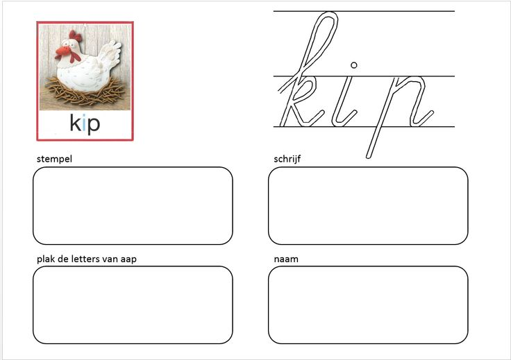 VLL Kim-versie Kern 1 Schrijf en plak - kip