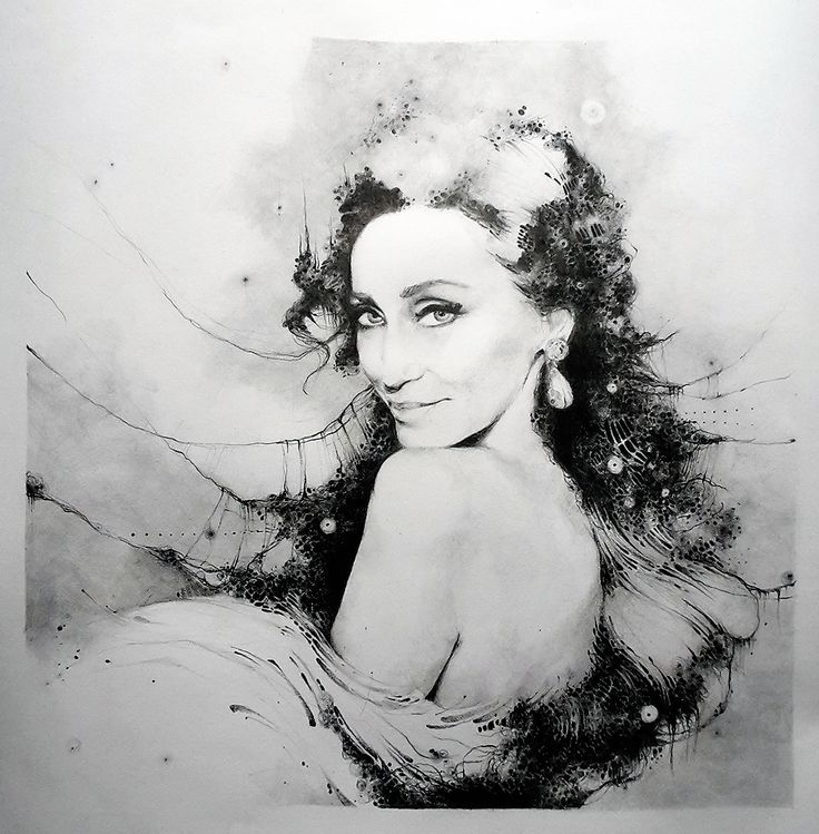 na objednavku. Portret Sisi Sklovskej. #portrait #art #graphic #SisaSklovska