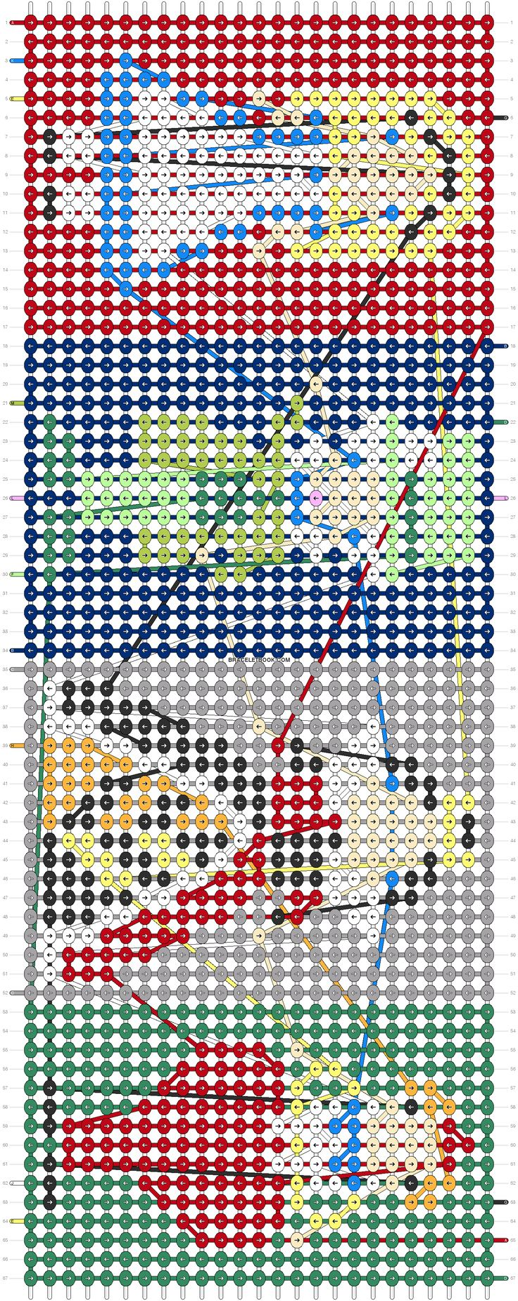 Alice In Wonderland Queen Friendship Bracelet Pattern Number 11588  For  More Patterns And Tutorials Visit