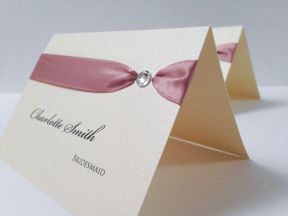 Tresana Place Cards Wedding Name Cards by WholeCaboodleDesign