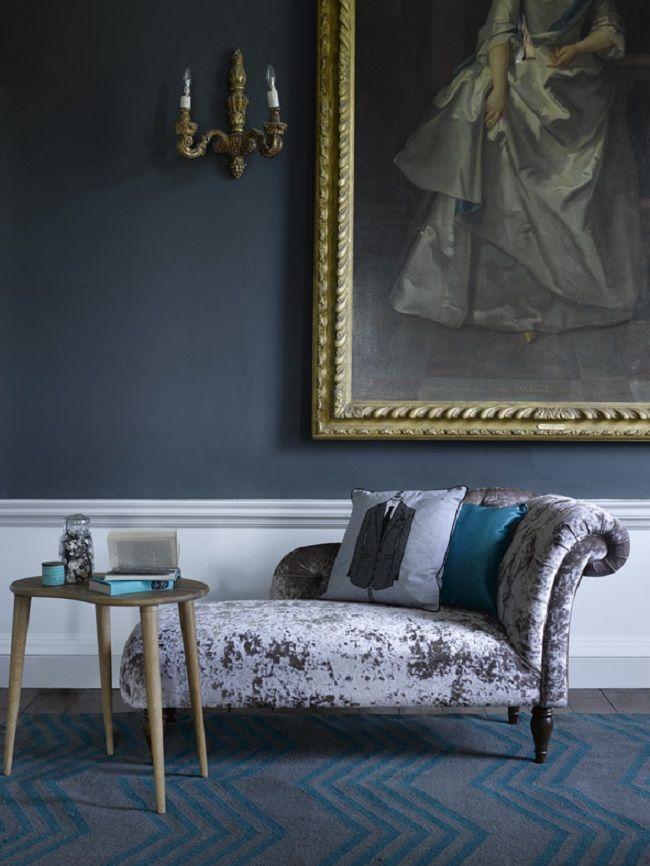 pequena sala de estar idéias de móveis de veludo sofá chaise