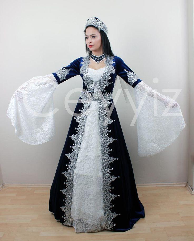 Ceyyiz.com   Çeyiz İç Giyim Evlilik Alışveriş Sitesi ~ 5 Parça Kaftan Bindallı Kına Elbisesi Mira