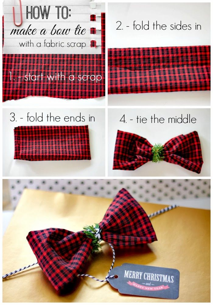 DIY gift wrap with old clothes