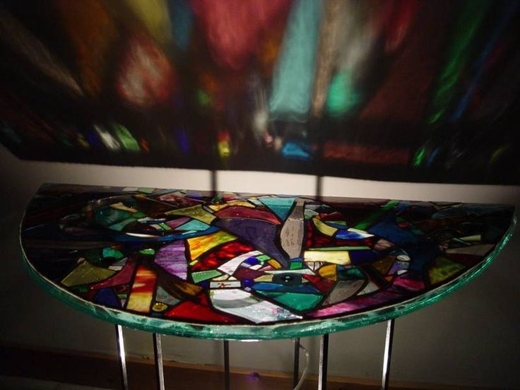 17 Best Images About Stained Glass Tables On Pinterest Stained Glass Windows Table Runners