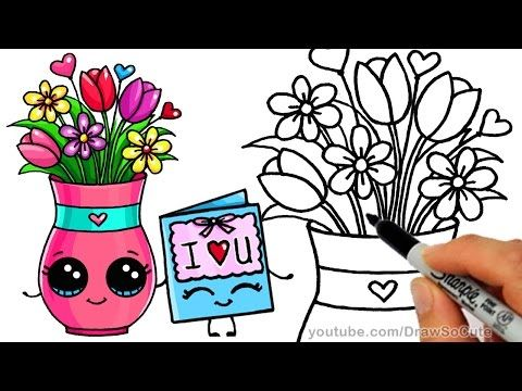 How to Draw Cartoon Pineapple and Coconut Cute step by step Luau Party - YouTube