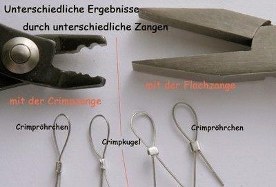 Kettenherstellung Crimpen - Mit Crimpen Ketten und Armbänder Basteln