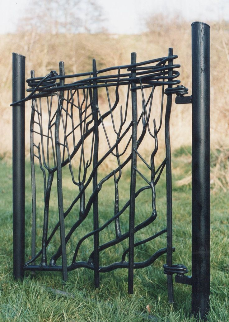 Love the hinges Sculpture and garden art , artistic metal furniture and gates - Garden and Drive Gates