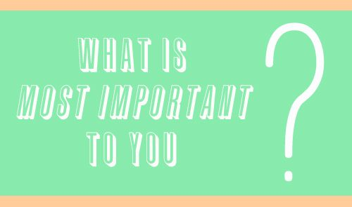 a reminder to value what is most important .. this is a good one. Click to read.: Student