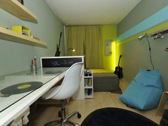 Une chambre d'ado tonique et urbaine - Le Journal de la Maison