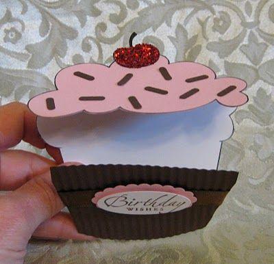 Cupcake Shaped Treat Cup & Card   Stamp-n-Design Store  Sooo cute!!