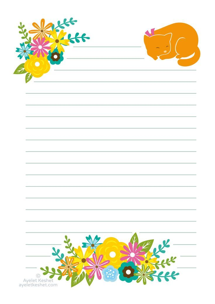 Free printable letter paper Kawaii Stickers and Stationery