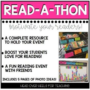READ-A-THON: A CLASSROOM READING EVENT by Joanne Miller | Teachers Pay Teachers