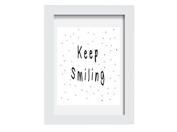 Motivational Quote Keep Smiling Quote Prints by AlbatrossCreation