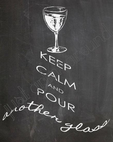 Wine art wine wall decor keep calm and drink wine for Wine chalkboard art