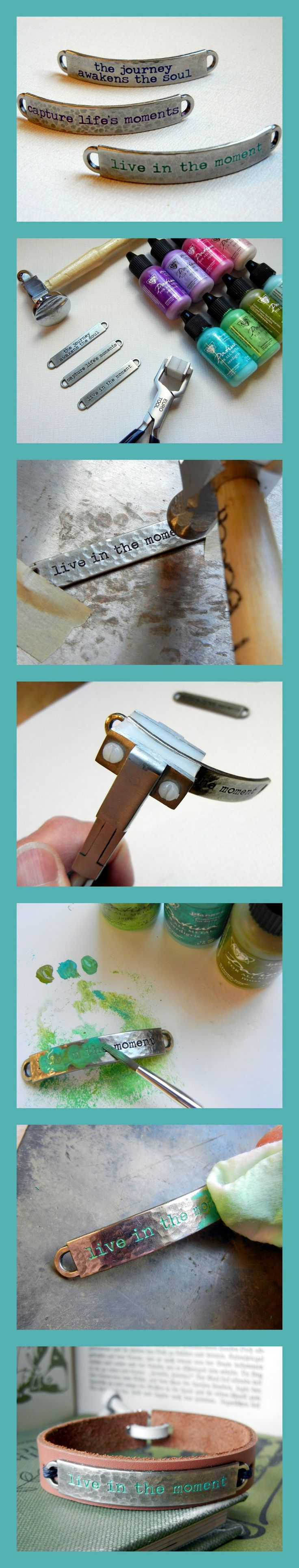 Add color to your jewelry with Vintaj Patinas.  A free DIY jewelry tutorial using Vintaj Patina from Rings & Things!