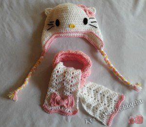 Horgolt Hello Kitty-szett