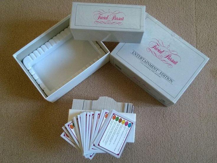 1987 Trivial Pursuit Entertainment Edition 500 Cards/ 3000 Questions.