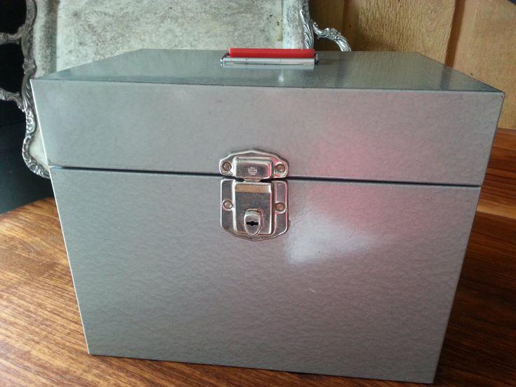 Delightful Industrial Metal File Storage Box, VINTAGE, Large Letter Size, Gray/Grey  With. Office Supply StorageStorage U0026 OrganizationStorage ...
