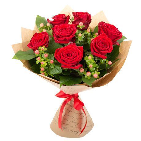 Фото: Букет с розами - Букет роз «Классический выбор»