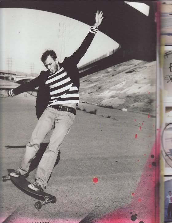 Heath Ledger on a skateboard photographed By Ben Watts (Naomi Watts brother)