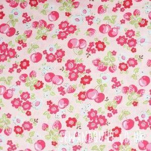 Lecien Old New 30's by Atusko Matsuyama, cherries pink
