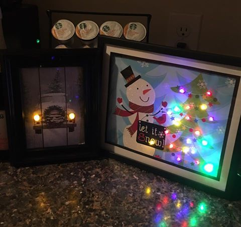 framed DT gift bags with battery operated lights | Dollar ...