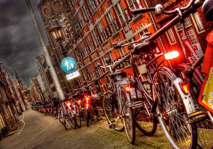 Sabía que en #Amsterdam todo mundo posee una bicicleta y hay el doble de bicis que de coches? #datoPalacio