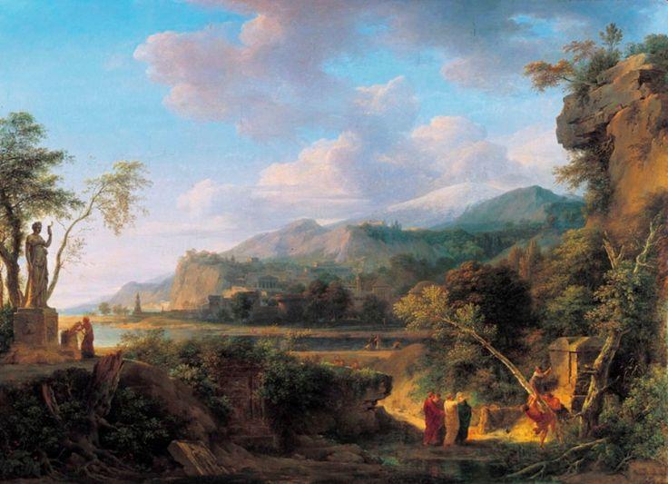 Pierre-Henri de Valenciennes. Cicéron découvrant le Tombeau d'Archimède (1787)