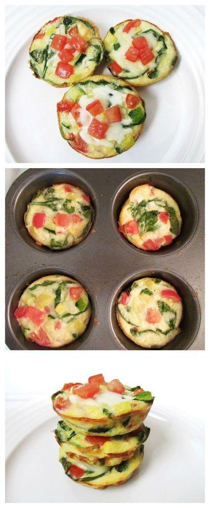Veggie Egg Frittata Muffins - Healthy Breakfast On the Go!