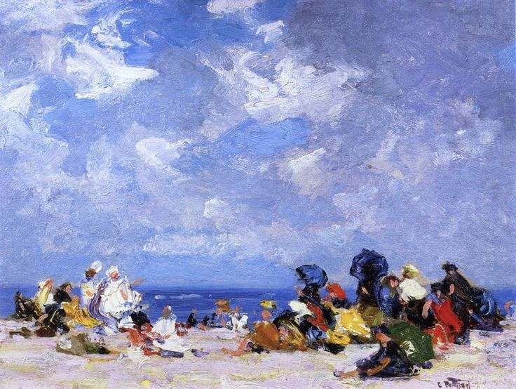 Sunday Afternoon at the Beach by Edward Potthast