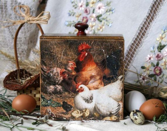Wooden storage box country style cocks kitchen от DecoDvorik