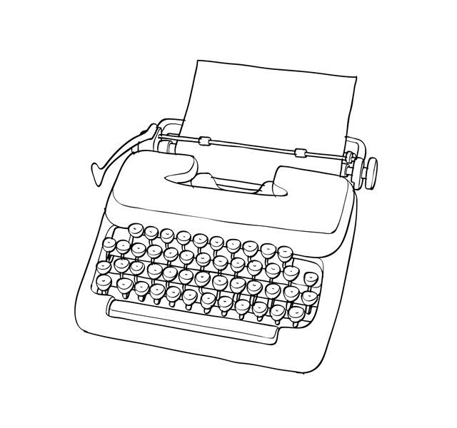 538 Best Typewriters Illustrations Images On Pinterest