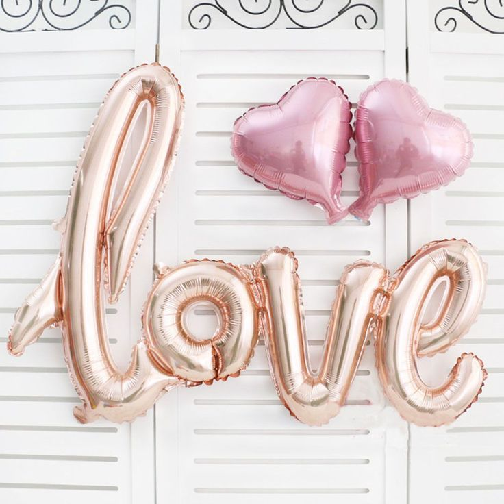 1 Компл. Любовные Письма Фольга Шар День Рождения Свадьба Годовщина Декор мини надувное + Сердце Воздушный Шар Любовь Воздушный Шар #jewelry, #women, #men, #hats, #watches, #belts, #fashion