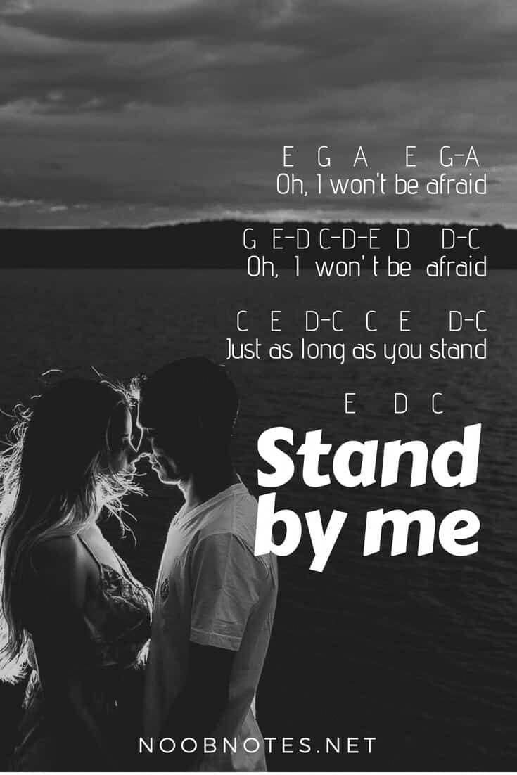 Stand By Me Ben E King Piano Songs Piano Music With Letters