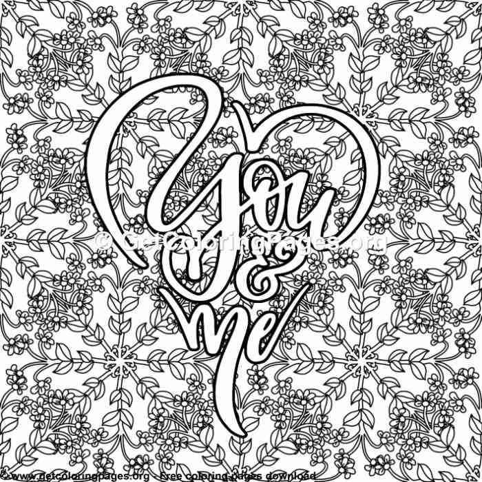 Love Quotes You And Me Coloring Pages Love Coloring Pages Quote Coloring Pages Skull Coloring Pages