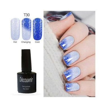 DECOUVRIR Temperature Change UV Gel Polish Color Changing Gradient Thermal Chameleon