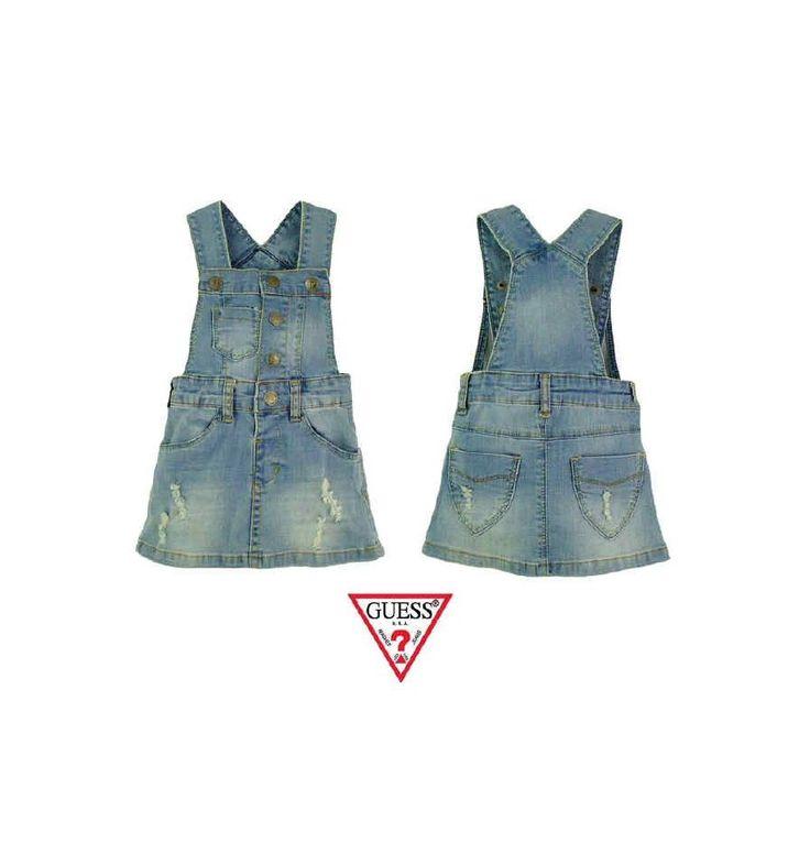 Guess - Overall Skirt Lightblue Jeans - Celana Bayi dan Anak. Tersedia dalam ukuran : 6 bulan, 9 bulan, 1 tahun, 18 bulan dan 2 tahun.