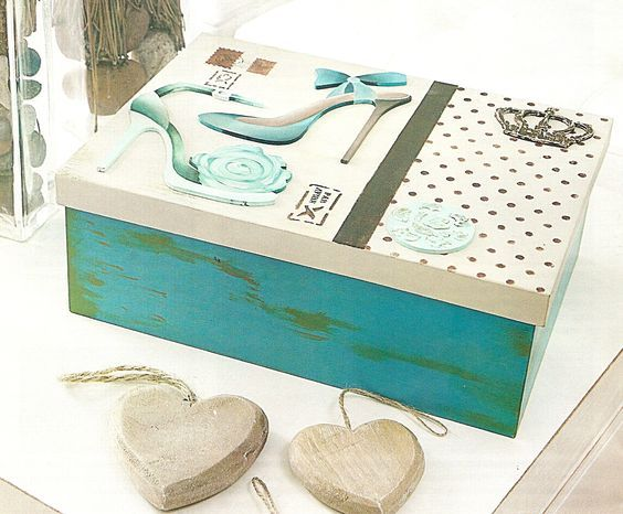M s de 1000 ideas sobre arte de cajas de zapatos en - Cajas de zapatos decoradas ...