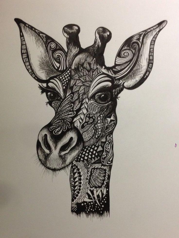 giraffe doodle lovin 39 this pin pen ink pinterest. Black Bedroom Furniture Sets. Home Design Ideas
