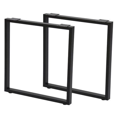 テーブルキッツ 角枠脚ハイタイプ 2本組 TBK-665ST ブラック W63xD8.5xH66.5